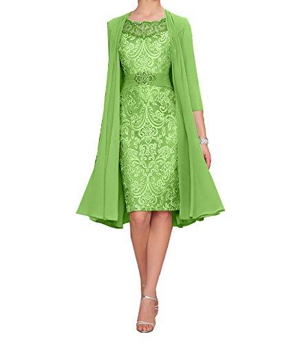 Charmant Damen Damen Elegant Apfel Gruen Chiffon Abendkleider Brautmutterkleider Partykleider...