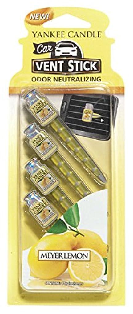 聴衆溶かす隠すヤンキーキャンドル カーフレグランススティック(4本入り) メイヤーレモン YANKEECANDLE 車のエアコン部分につけるフレグランスアイテム