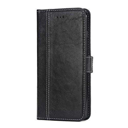 iPhone 6S / iPhone 6 Hülle, SONWO Premium Retro PU Leder Flip Brieftasche andyhülle mit Magnetverschluss, Kartenfächer und Ständer Funktion für iPhone 6 / 6s, Schwarz