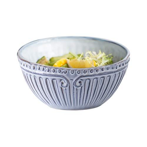 DJY-JY Bol de cerámica para el hogar creativo en relieve de frutas ensalada grande tazón sopa simple personalidad tazón de arroz