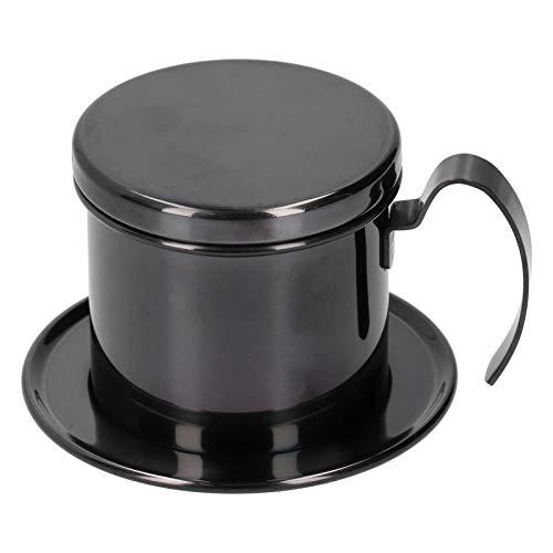 Cafetera, exquisito infusor de café no tóxico, apto para lavavajillas, acero inoxidable 304 para el hogar, café, oficina, café (negro)
