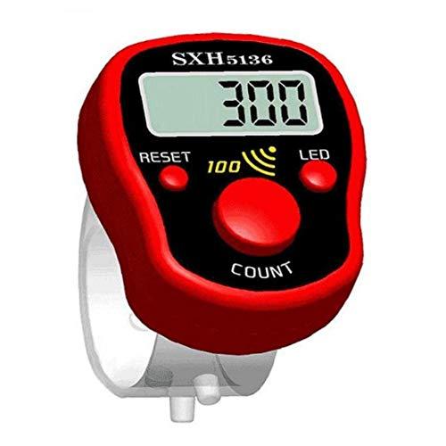 Angoter Mini Puntada Marcador Fila Dedo Display LCD Contador eléctrico Digital con...