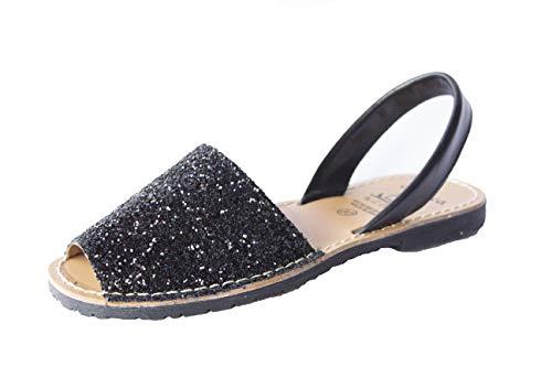 Avarcas Sandaletten Espadrilles Damen Leder Sandalen Gold Spain Leather Sandals