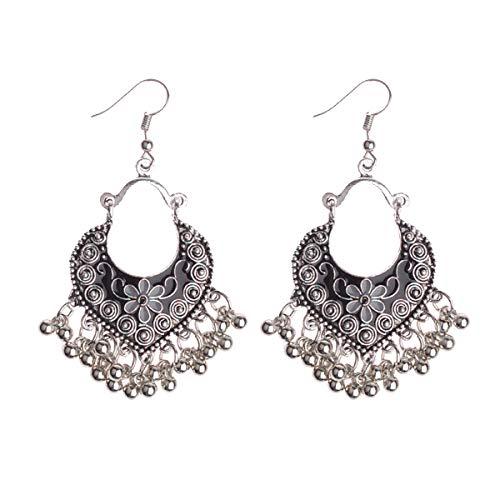 Orecchini a nappa lunga con perline fatti a mano della Boemia per gioielli da donna Orecchini con perline multicolori Orecchini etnici pallidi