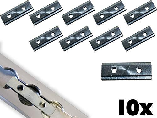 NTG 10 x Nutenstein für Airlineschienen Stahl verzinkt M6 Ladungssicherung Fitting 2xM6
