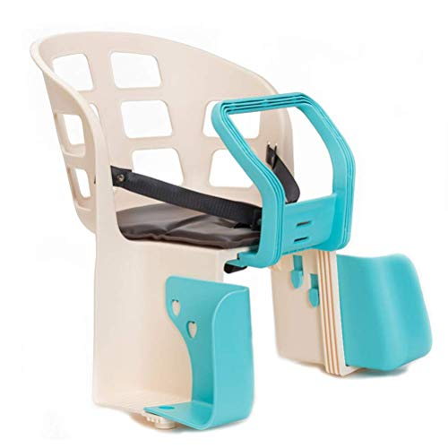 WYJBD Plastikfahrrad-Rücksitz for Kinder Schnellspanner hinten Baby Sitz Fahrradträger mit Fußrasten und Sicherheitsgurt (Color : Blue)