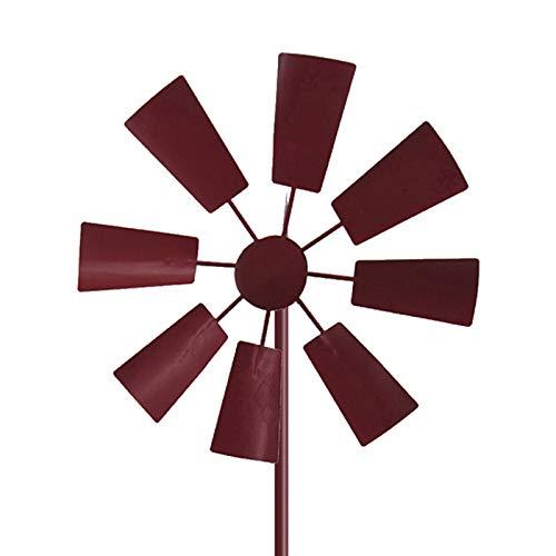 ZS ZHISHANG Retro Windmill Spinner Garden Stake Pinwheel Outdoor Decor Metal Spinners Garden Windmill with Metal