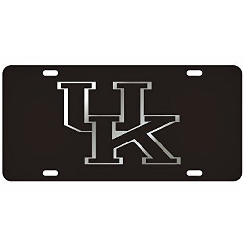 Craftique Kentucky Wildcats Black Laser Cut License Plate - Black UK Logo