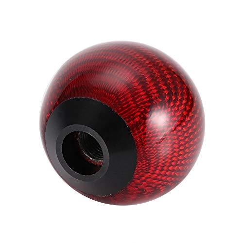 Perilla de Cambio de Marchas, Coche Universal de Fibra de Carbono Palanca de Cambio de Marchas Cabeza de Palanca Palanca de Cambio Accesorio para Automóvil de Moda(red)