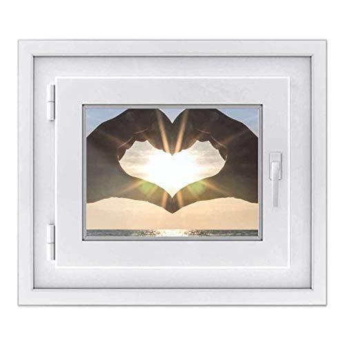 creatisto Fenster-Folie Sichtschutz I Folie für Fenster Deko - Fensterbild selbstklebend I Deko für Bad, Küche, Kinderzimmer - Farbecht, Robust - Made in Germany