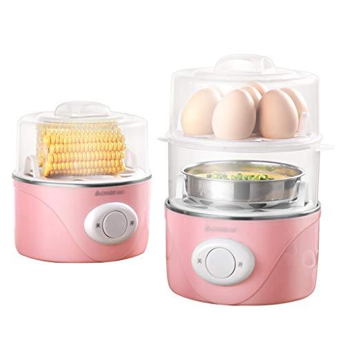GZH Elektrische eierkoker, voor harde zachte gekookte eieren, gepocheerde eieren, omeletten en stoompan, met automatische uitschakelfunctie en 2 standen, voor gezinnen met kinderen