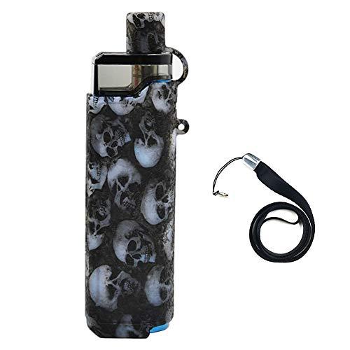 SMOK RPM80 PRO KIT Funda para dispositivo Funda protectora de silicona Funda protectora Envoltura de piel, con cordón (Black skull)