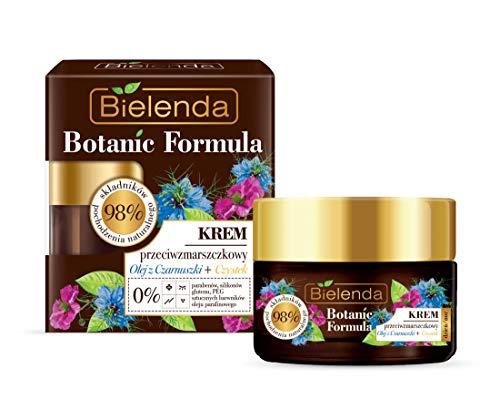 Bielenda Botanic Formula Antifalten Creme mit Schwarzkümmel und Zistrose 50ml 0% Parabene, 0% Silicone, 0% PEG, 0% Gluten, 0% künstliche Farbstoffe und 0% Paraffinöl