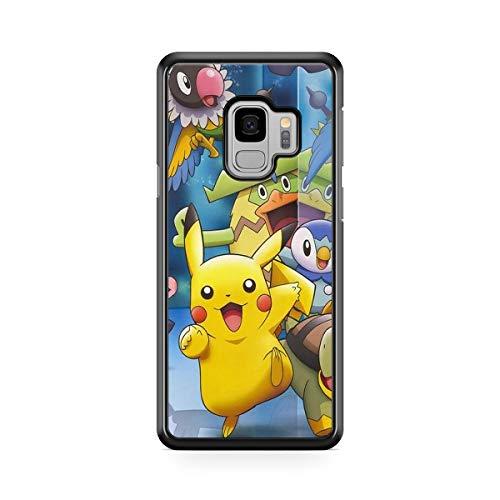Coque pour Samsung Galaxy A6 2018 Pokemon go Team Pokedex Pikachu Manga Tortank Game Boy Color Salameche Noctali Valor Mystic Instinct Case + Stylet + Lingette de Nettoyage Ecran 9