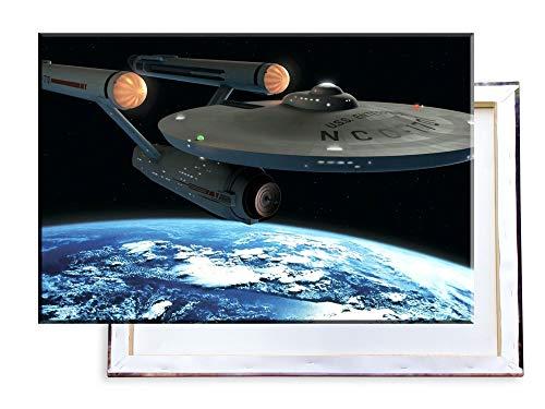 Unified Distribution Raumschiff Enterprise - 100x70 cm Kunstdruck auf Leinwand • erstklassige Druckqualität • Dekoration • Wandbild