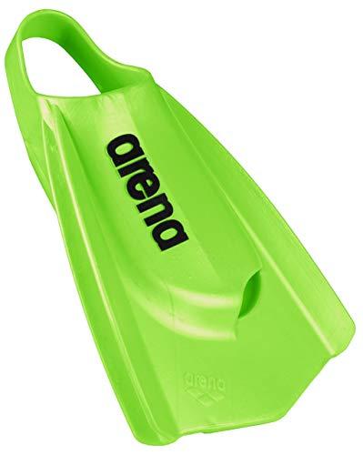 Arena Powerfin Pro - Aletas de entrenamiento para natación, color Acid Lime, tamaño 9.5 - 10.5
