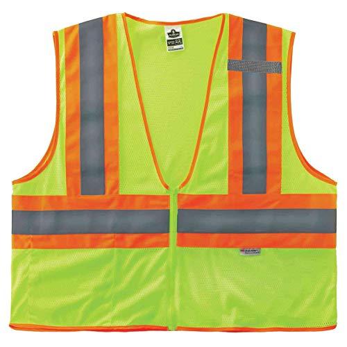 Ergodyne GloWear 8230Z ANSI Gilet de sécurité réfléchissant bicolore haute visibilité Citron vert Taille L/XL