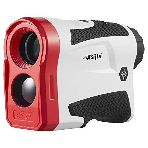 Bijia - Telémetro de golf con pendiente - 6 x buscador de telémetro láser 600 yardas con pinsensor, bloqueo de bandera, corrección de pendiente, medición de distancia, vibración y USB
