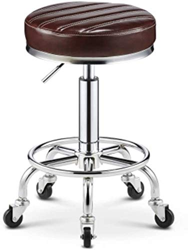 Mr. Wang Stol höjd justerbara fåtöljer, ergonomisk vilstol fåtölj, kontorsstol barstol, avtagbar 360° svängbar barstol rund barstol lyftbar hög pall från