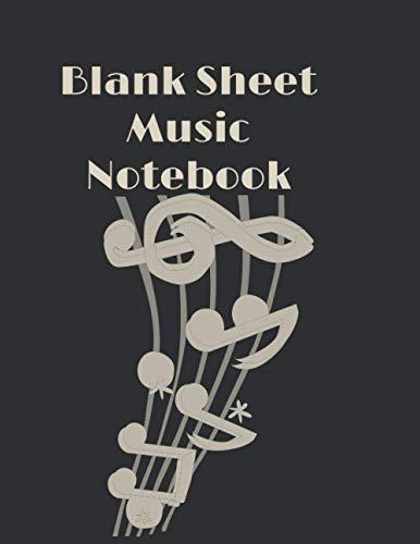 Blank Sheet Music Notebook: Music Writing Notebook For Kids and Adults, White Marble Blank Sheet Music, 12 Staves Per Page, Composition Books Gifts ... *, 150 pages
