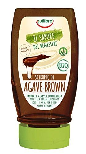 Equilibra Sciroppo di Agave Brown Bio e Vegan - 350 g