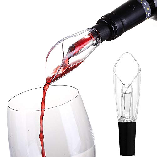 Zupora Wine Aerator Pourer - Premium Aerating Pourer and Decanter Spout for Wine Lover