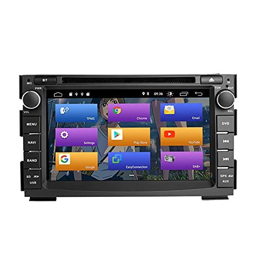 N A BOOYES per Kia Ceed 2010-2012 Venga 2010-2016 Android 10.0 Double DIN 7'Lettore Dvd per Auto Multimedia Navigazione GPS Auto Radio Stereo Auto Auto Play/TPMS/OBD / 4G WiFi/Dab/SWC
