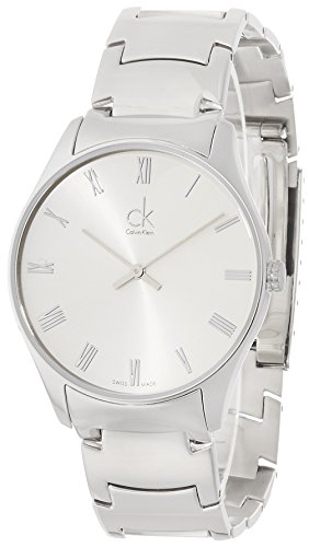 Calvin Klein K4D2114Z - Reloj para Hombres, Correa de Acero Inoxidable Color Plateado
