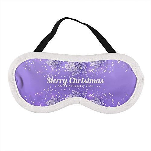 Tragbare Augenmaske für Damen und Herren, Schneeflocke auf violettem Hintergrund, die beste Schlafmaske für Reisen, Nickerchen, gibt Ihnen die beste Schlafumgebung