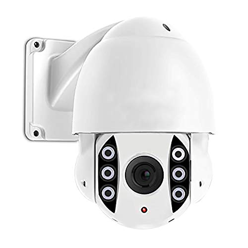 GW Security 8MP (3840x2160) 4K PTZ Camera IP PoE High Speed Dome with 5X Optical Zoom, Outdoor/Indoor Use Florida