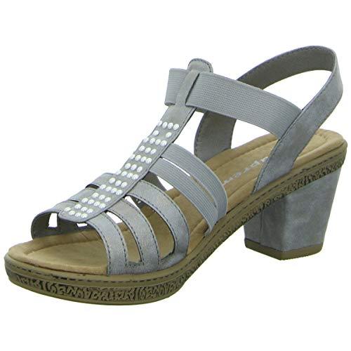 Supremo Damen 4822705 T-Spangen Sandalen, Grau (Grey), 41 EU