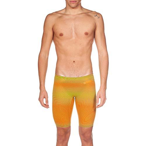 Arena Powerskin Carbon Air² Men's Jammers Racing Swimsuit, Lime/Orange, 26