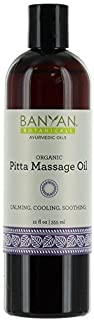 Banyan Botanicals Pitta Massage Oil - Certified Organic, 12 oz - Calming, Cooling, Soothing - Softens The Skin While Providing a Buffer from The irritations of Daily Life*
