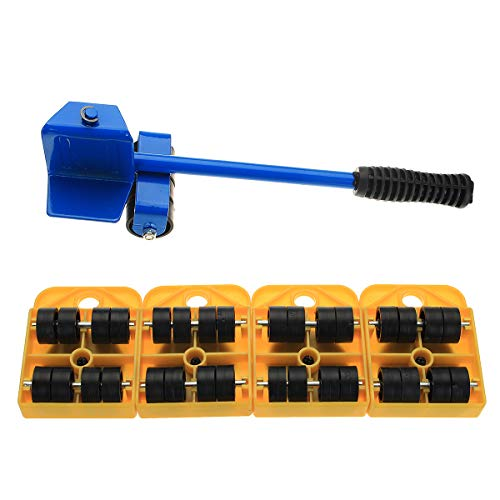 ChaRLes Heavy Furniture Bracket Moving System Lifter Tool Mit 4 Slide Glider Pad Sofa Easy Move