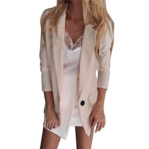 SHOBDW Liquidación Venta Trajes Mujer Abrigos Mujer Invierno Largos Rebajas Cardigan Mujer Otoño Chaqueta Mujer Slim Fit Damas de Oficina Blazers Talla Grande 6 Colores 8 Tamaños
