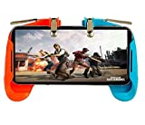 Homelett Gaming Trigger with Fire Button for All Smart Phones (Blue n Orange)