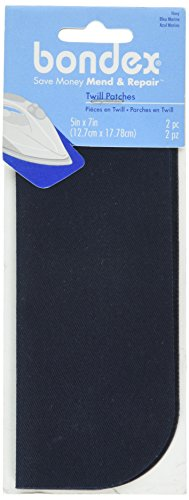 Wright Products Bondex Iron-On Patches 5'X7' 2/Pkg, Navy