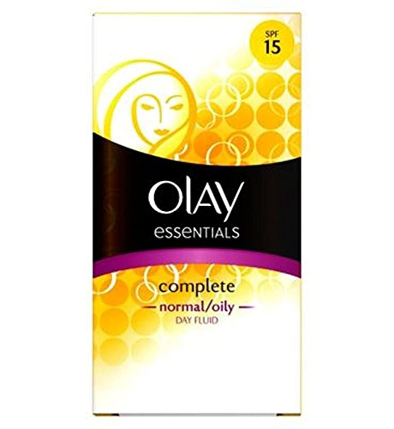 形式安心させる凍るオーレイ完全な軽量3In1の保湿日流体Spf15ノーマル/オイリー100ミリリットル (Olay) (x2) - Olay Complete Lightweight 3in1 Moisturiser Day Fluid SPF15 normal/oily 100ml (Pack of 2) [並行輸入品]