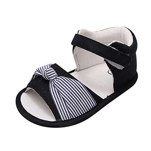 Toddler Infant Baby Sandals Soft Sole Summer Shoes Open Toe Toddler First Walker Crib Dress Shoes 2#Black