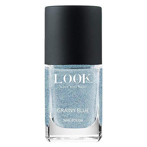 Look to go Nagellack NP 060 Grainy Blue 12ml I Hellblauer Effekt-Lack mit toller Deckkraft und feinen Pigmenten I vegan & 13-free I Made in Germany
