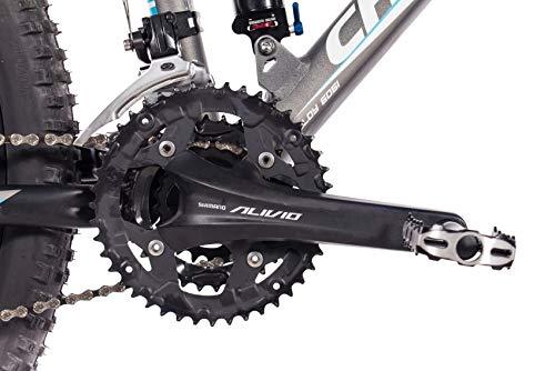CHRISSON 29 Zoll Mountainbike Fully - Hitter FSF grau blau - Vollfederung Mountain Bike mit 30 Gang Shimano Deore Kettenschaltung - MTB Fahrrad für Herren und Damen mit Rock Shox Federgabel - 6