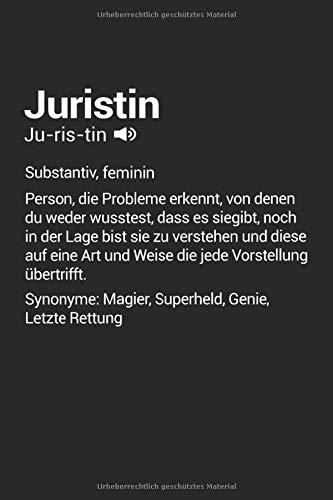 Juristin Superheld Definition: Juristin Notizbuch Tagebuch 6