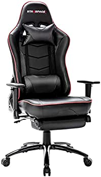 Starspace High-Back Massage Gaming Chair with Footrest