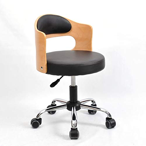 Lwjby Echt leer en echt leer moderne bureaustoel moderne bureaustoel in hoogte verstelbaar Task Bureaustoel Vintage Design Rugleuning