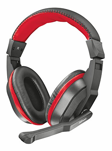 Trust Ziva - Auriculares Gaming Over-Ear con micrófono, Color Negro