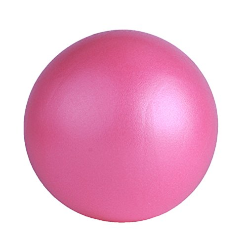 VORCOOL Yoga Pilates Ball Kleine Übung Ball für Bauch-Workouts und Schulter-Rehabilitation-Übungen Core Stärkung der at-Home Ab Workouts (Pink 25cm)
