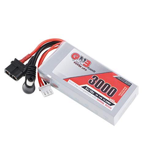 FancyWhoop 3000mAh 2S LiPo Akku 7.4V 5C/10C mit XT60 Stecker für Fat Shark Brillen HD Hobby Wireless FPV RC Empfänger