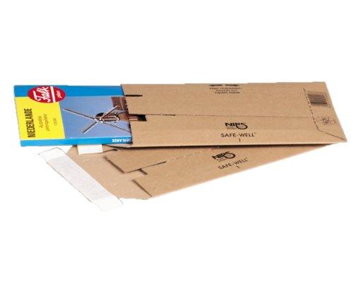 NIPS 142610114 Safe-Well 1 enveloppen van golfkarton, 166 x 268 mm, 25 stuks, bruin