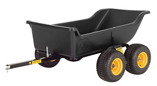 Polar Trailer 8262 HD 1500 Tandem Axle Utility Cart, 98 x 54 x 31-Inch Heavy Duty 1500 Lbs Load Capacity Rugged Wide-Track Tires Quick Release Tipper Latch Tilt & Pivot Frame, Black