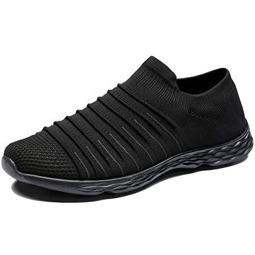 Zapatillas Casuales para Hombre Calzado Deportivo Bajas de Moda Sandalias de Verano Ligeras y Transpirables Todo Negro 43